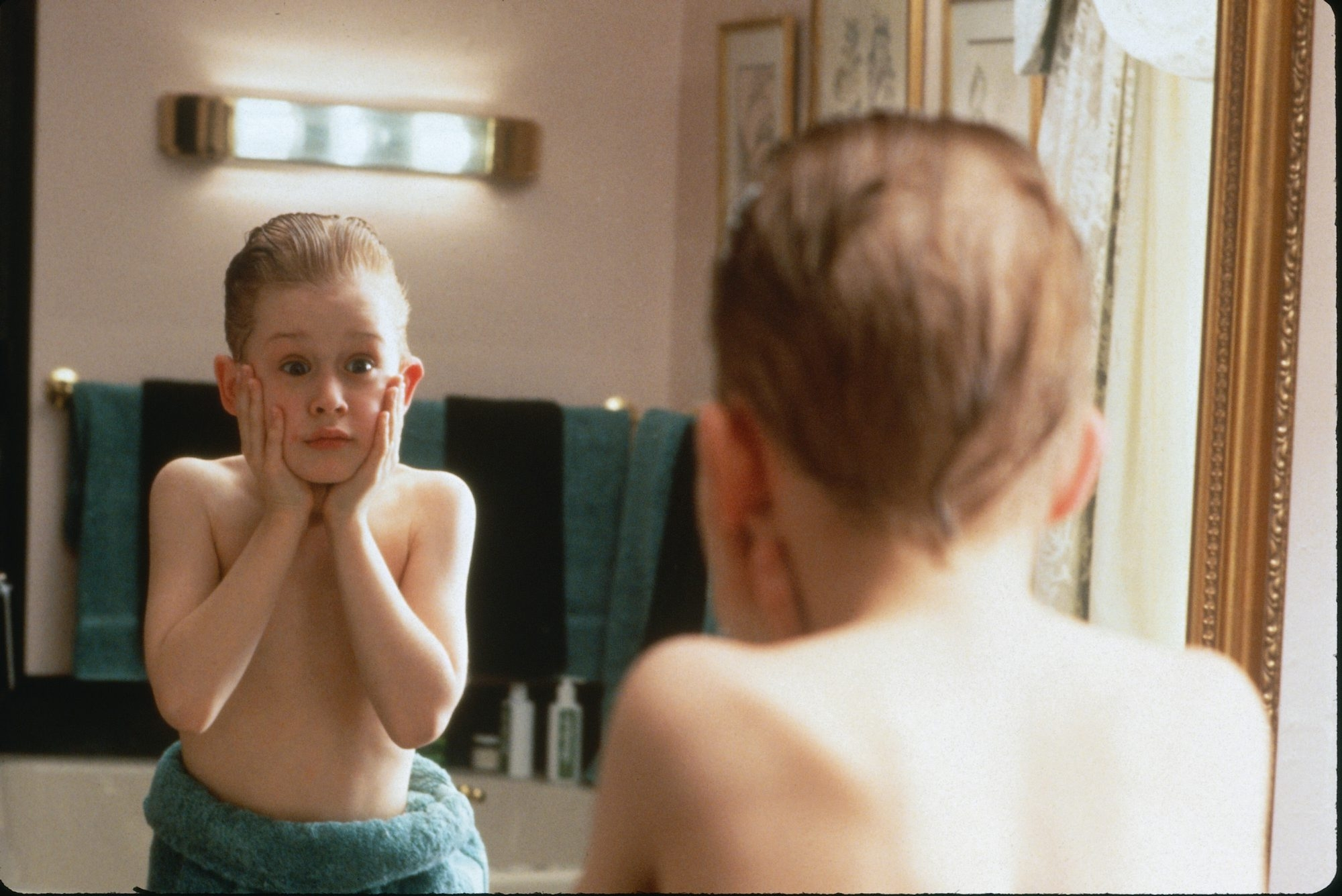 """Macaulay Culkin plays the resourceful youngster Kevin in """"Home Alone."""""""