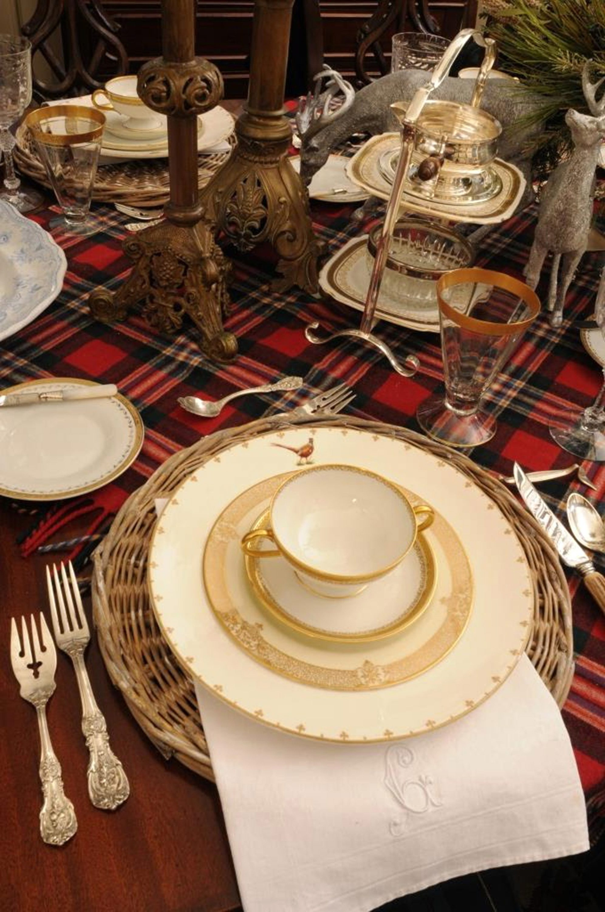 Create a wintry tablescape you don't have to take down after Christmas.