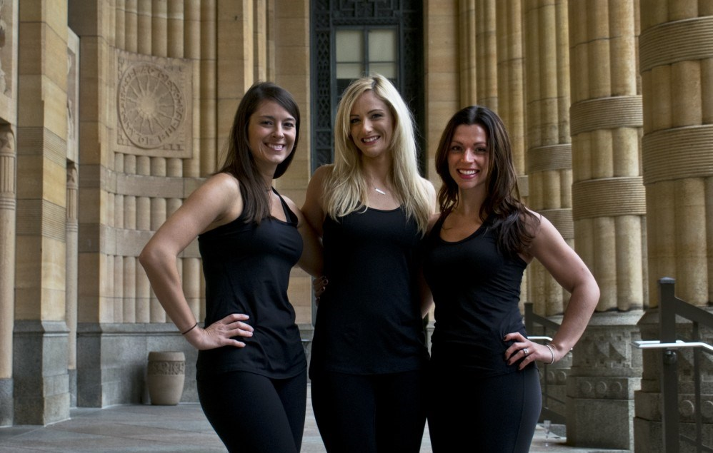 Revolution Indoor Cycling owners, from left, Colleen Kirk, Amanda Moses and Rachel McCrone, all have group fitness training experience.