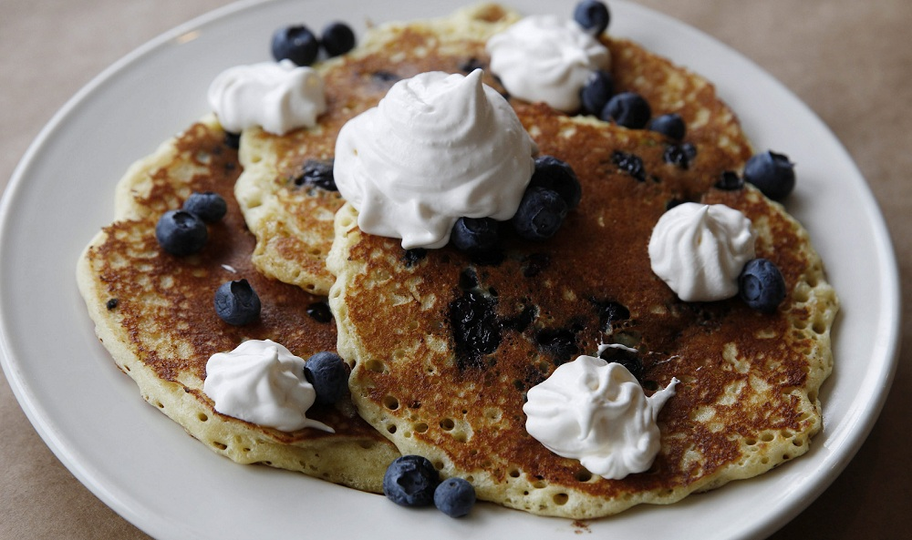 Blueberry pancakes are a specialty at the Campfire Grill in Depew. For more photos, visit the galleries page of www.buffalonews.com. (Sharon Cantillon/Buffalo News)