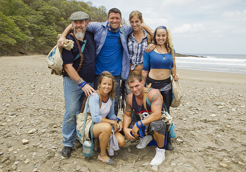 Blue Collar tribe members, clockwise top from left, Dan Foley, Mike Holloway, Sierra Thomas, Lindsey Cascaddan, Rodney Lavoie Jr. and Kelly Remington will be six of the 18 castaways competing on CBS' 'Survivor' this season. The show premieres at 8 p.m. Feb. 25. (CBS photo)