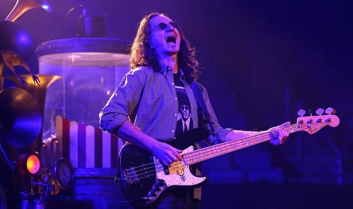 Geddy Lee, bass player and lead singer of Rush, performs in 2012 in the First Niagara Center. Rush will return to Buffalo in 2015. (Robert Kirkham/Buffalo News file photo)