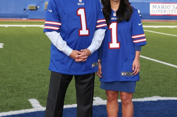 """""""Now, with the Pegulas, they want to be successful. They're all in. That's got to be motivating for the players."""" Sandra Smith, of East Amherst, on Terry and Kim Pegula owning the Bills (James P. McCoy/Buffalo News file photo)"""