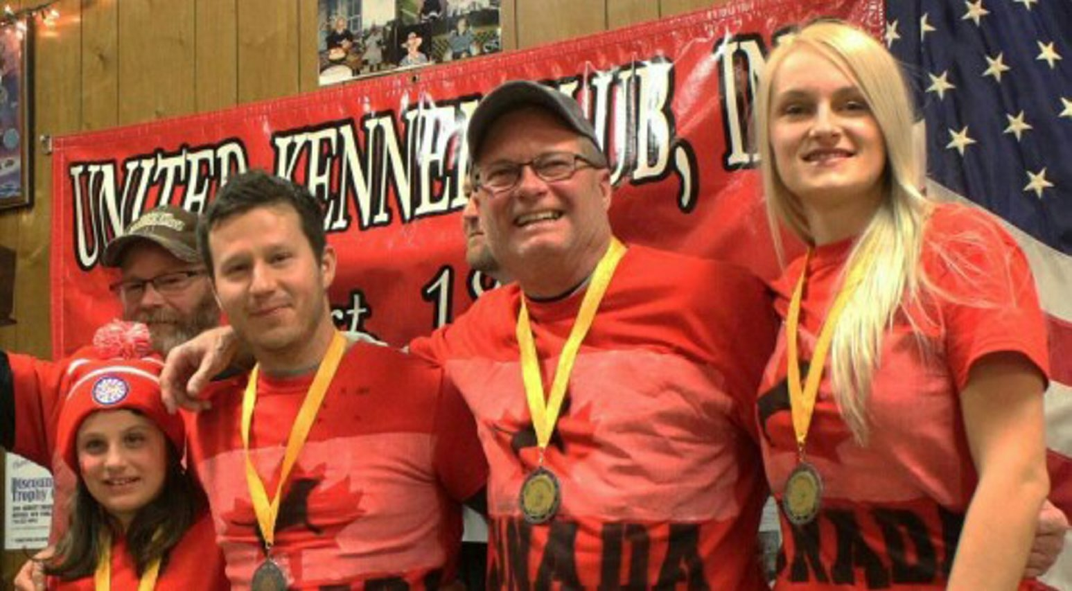 Matt Christopher, Dan Duhaime and Krista Gaverluk are three of the six members of a Port Colborne-based Canadian team that took top rabbit derby honors.