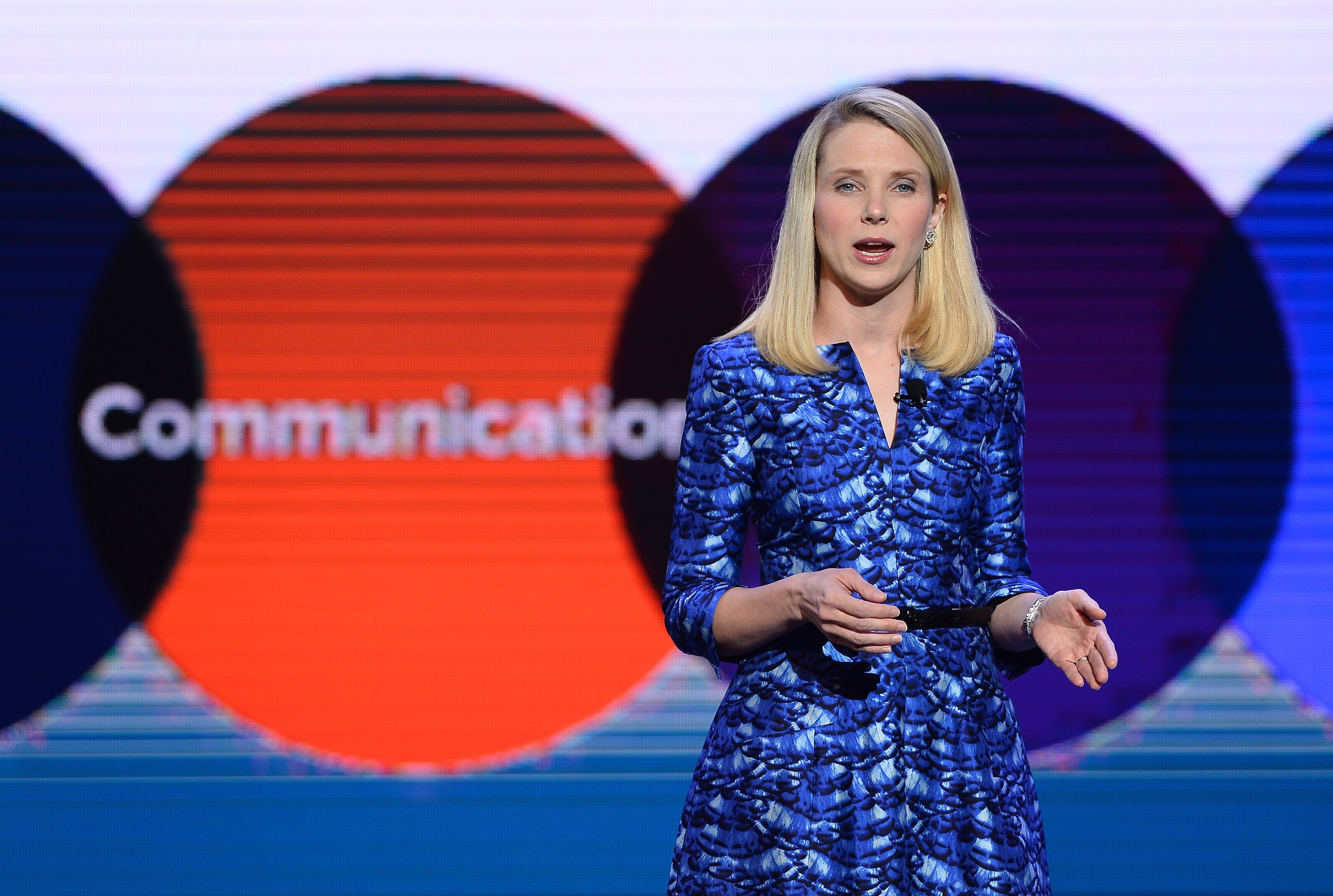 Yahoo President and CEO Marissa Mayer delivers the keynote address at the 2014 International CES, the world's largest annual consumer technology trade show,  on Tuesday in Las Vegas. Yahoo will spin off their stake in Alibaba into a company called SpinCo, in a move to save shareholders the tax burden of a direct sale of the stake.