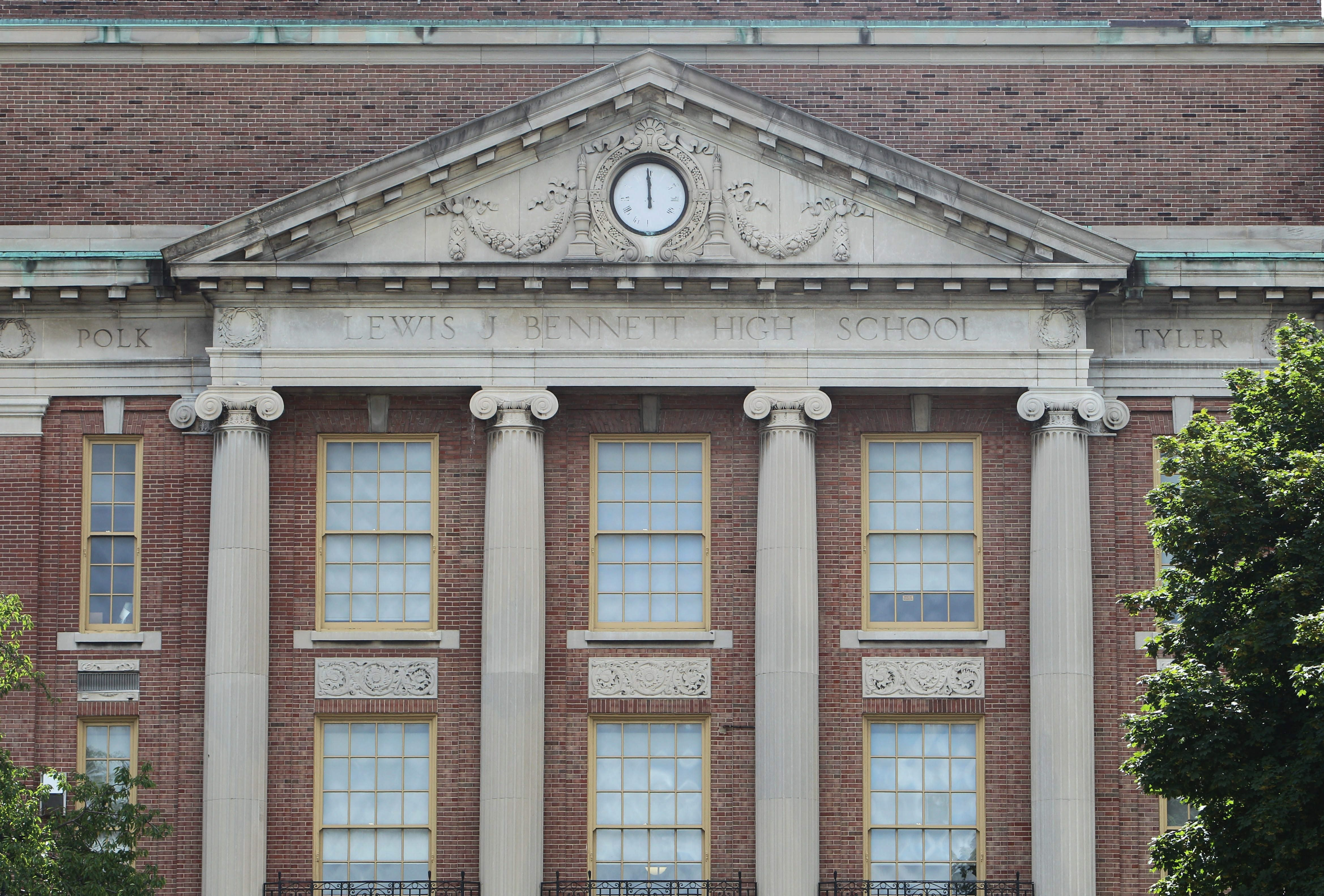 The school board faces a deadline to either transform or phase out Bennett High School, above, along with Lafayette and East high schools and Martin Luther King Multicultural Institute.  (Sharon Cantillon/Buffalo News)