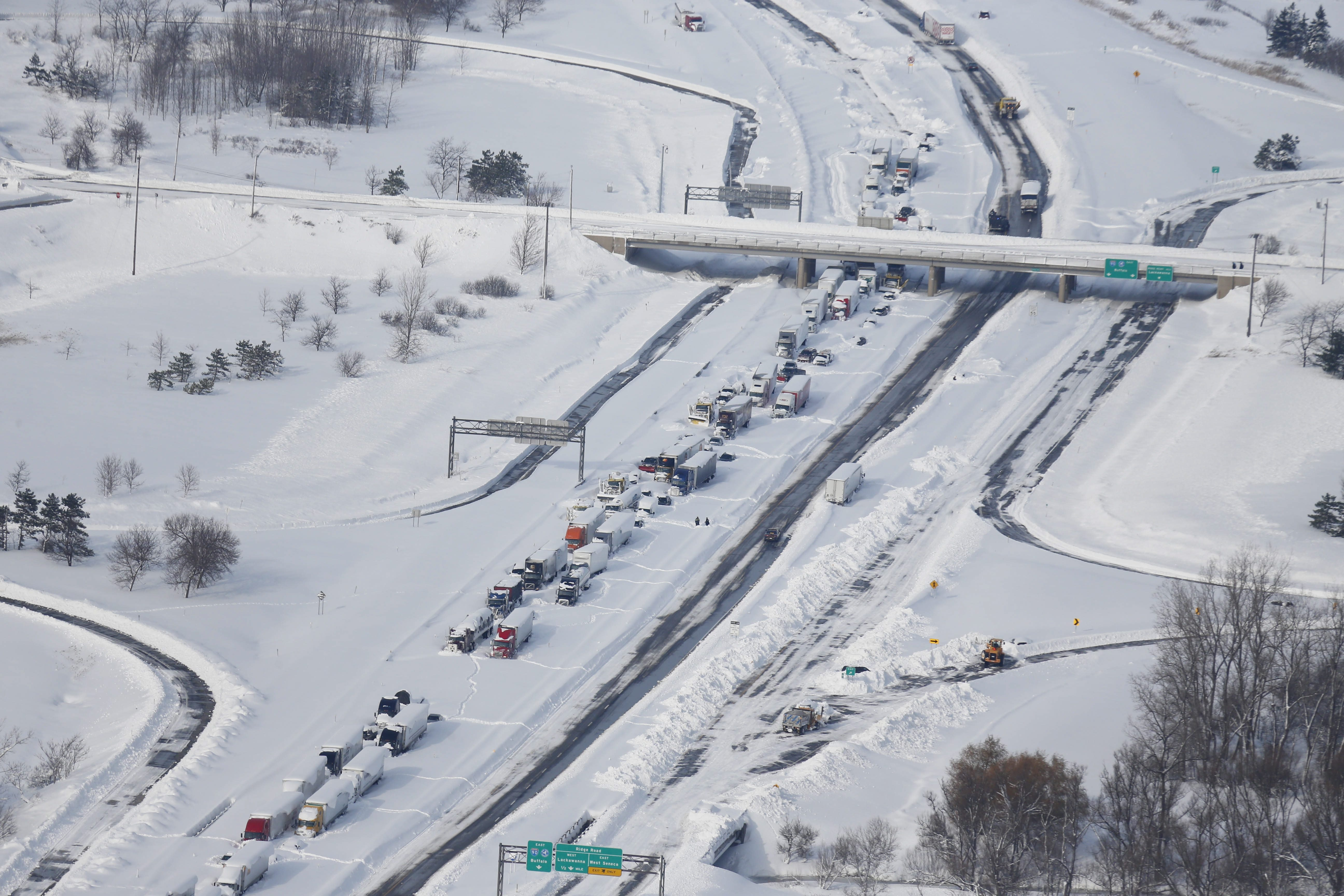 The Thruway Authority faced withering criticism for allowing people to be stranded on the highway during the November lake-effect storms. (Derek Gee/Buffalo News file photo)
