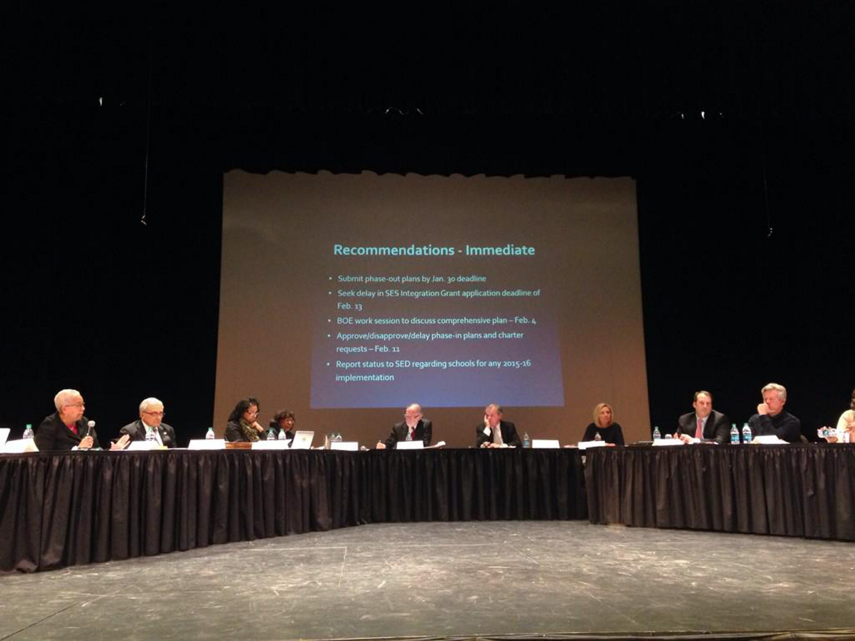 The meeting of the Buffalo Board of Education gets started Wednesday.