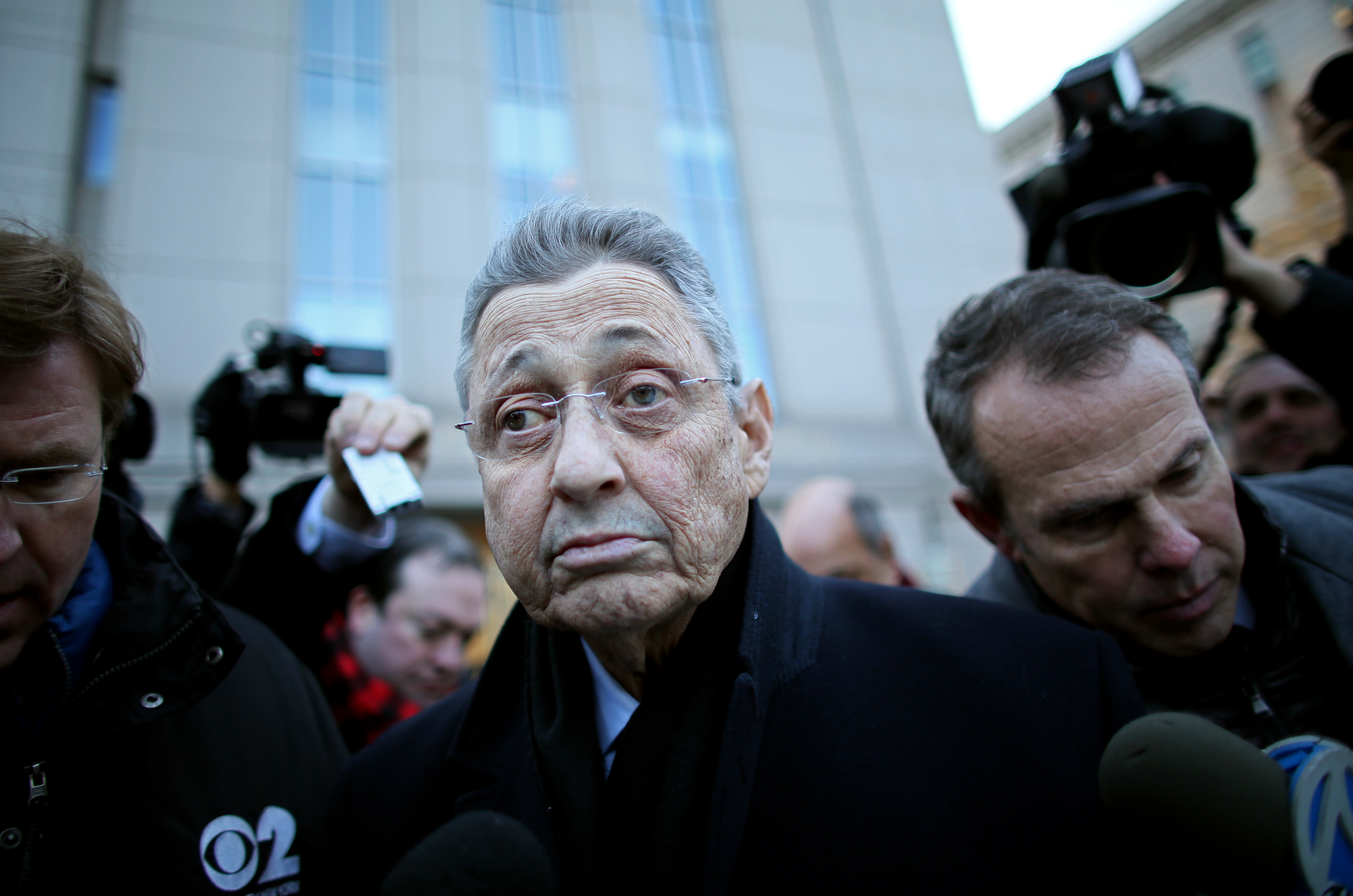 New York State Assembly Speaker Sheldon Silver walks out of the Federal Courthouse after his arraignment on January 22, 2015 in New York City. Silver was arrested on bribery and corruption charges Thursday morning after a long-term investigation by the FBI. (Photo by Yana Paskova/Getty Images)