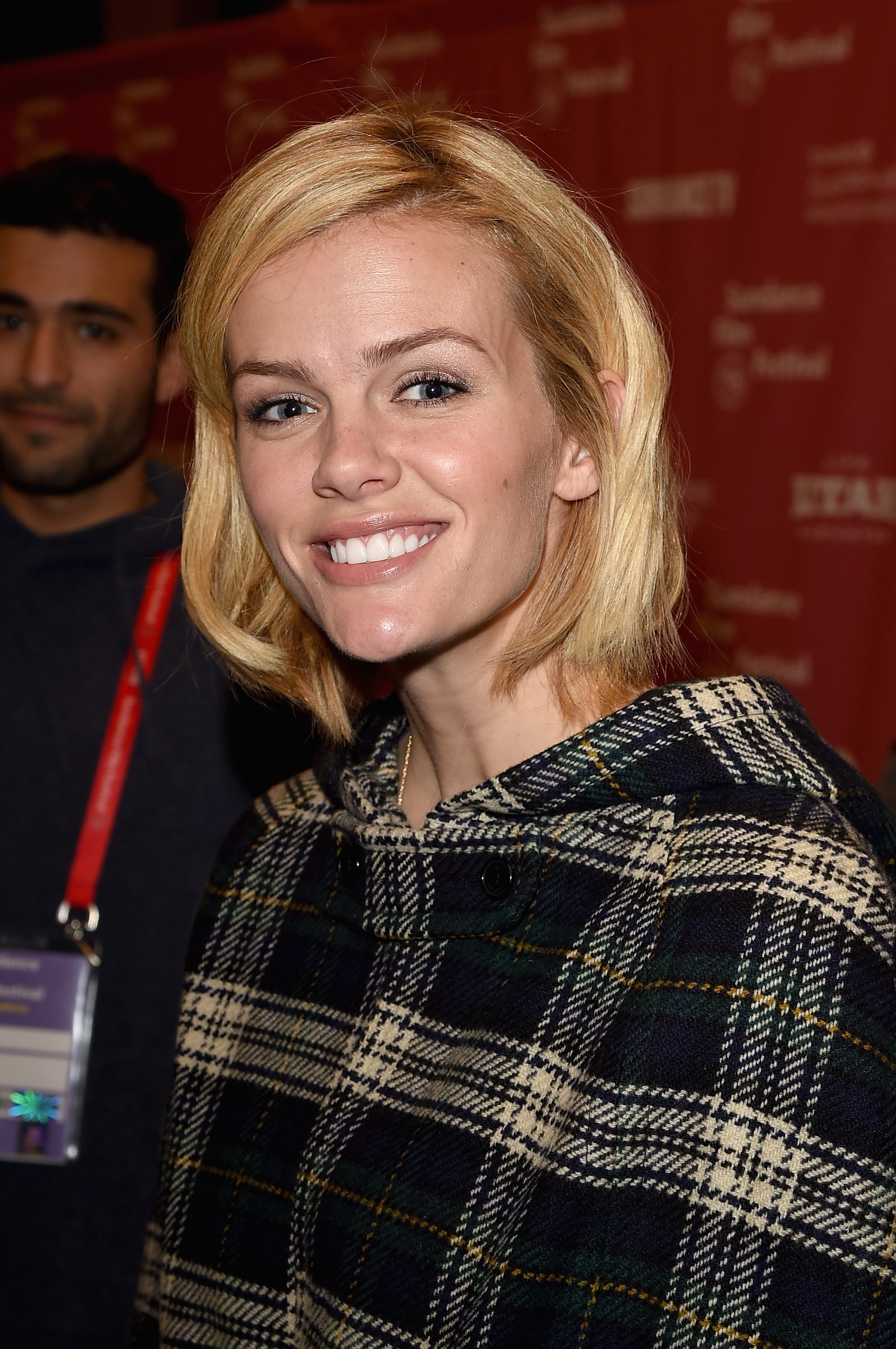 "Actress Brooklyn Decker was all smiles as she attended the ""Results"" premiere Thursday during the 2015 Sundance Film Festival in Park City, Utah."