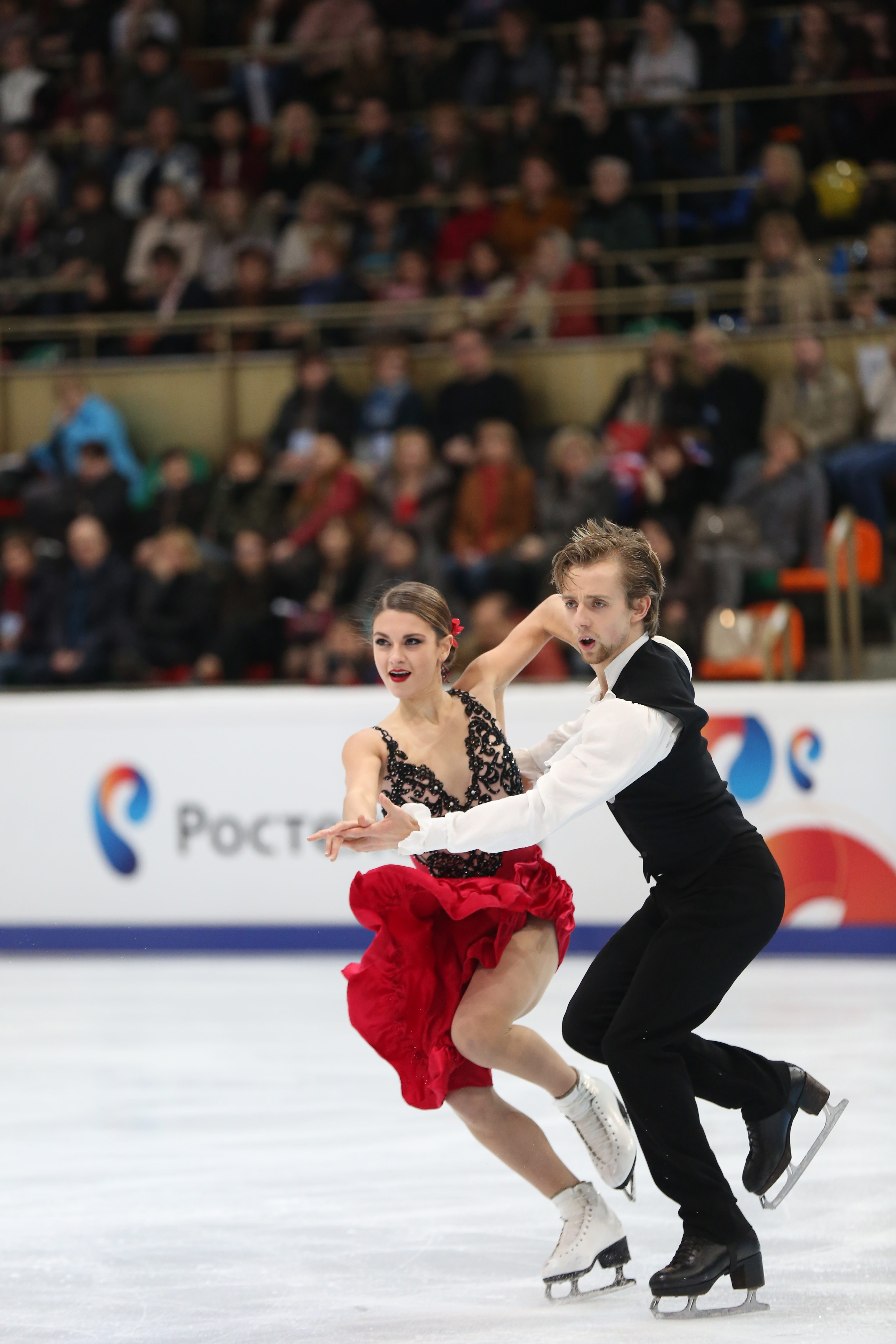 Kaitlin Hawayek and Jean-Luc Baker are competing in the televised U.S. Figure Skating  Championships. (Robin Ritoss/Special to The News)