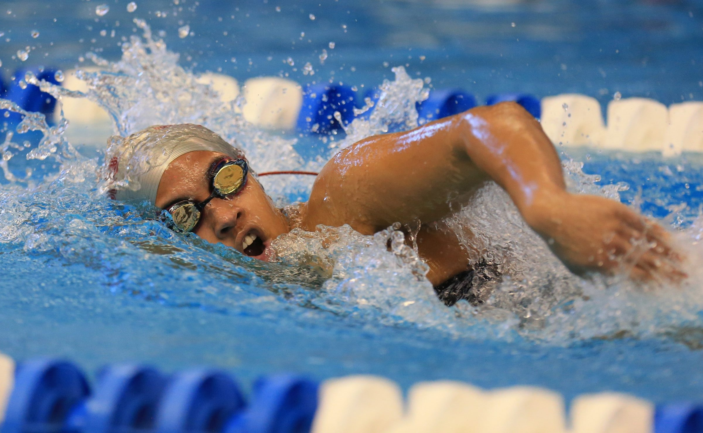 Alize Allen from City Honors swam a 2:18.70 in the 200-yard IM, setting a Buffalo Public School, City Honors pool and City Honors program record.