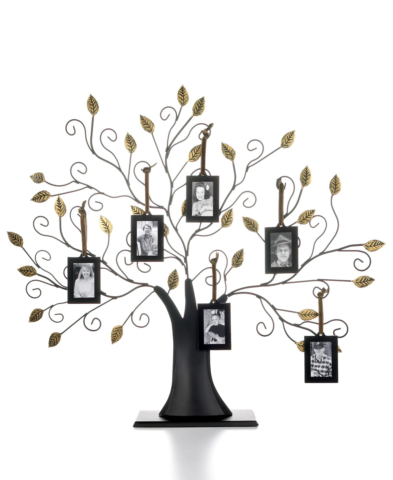 The family tree with set of six hanging frames is perfect for those passionate about family history and heritage. $42, macy's.com (Handout)