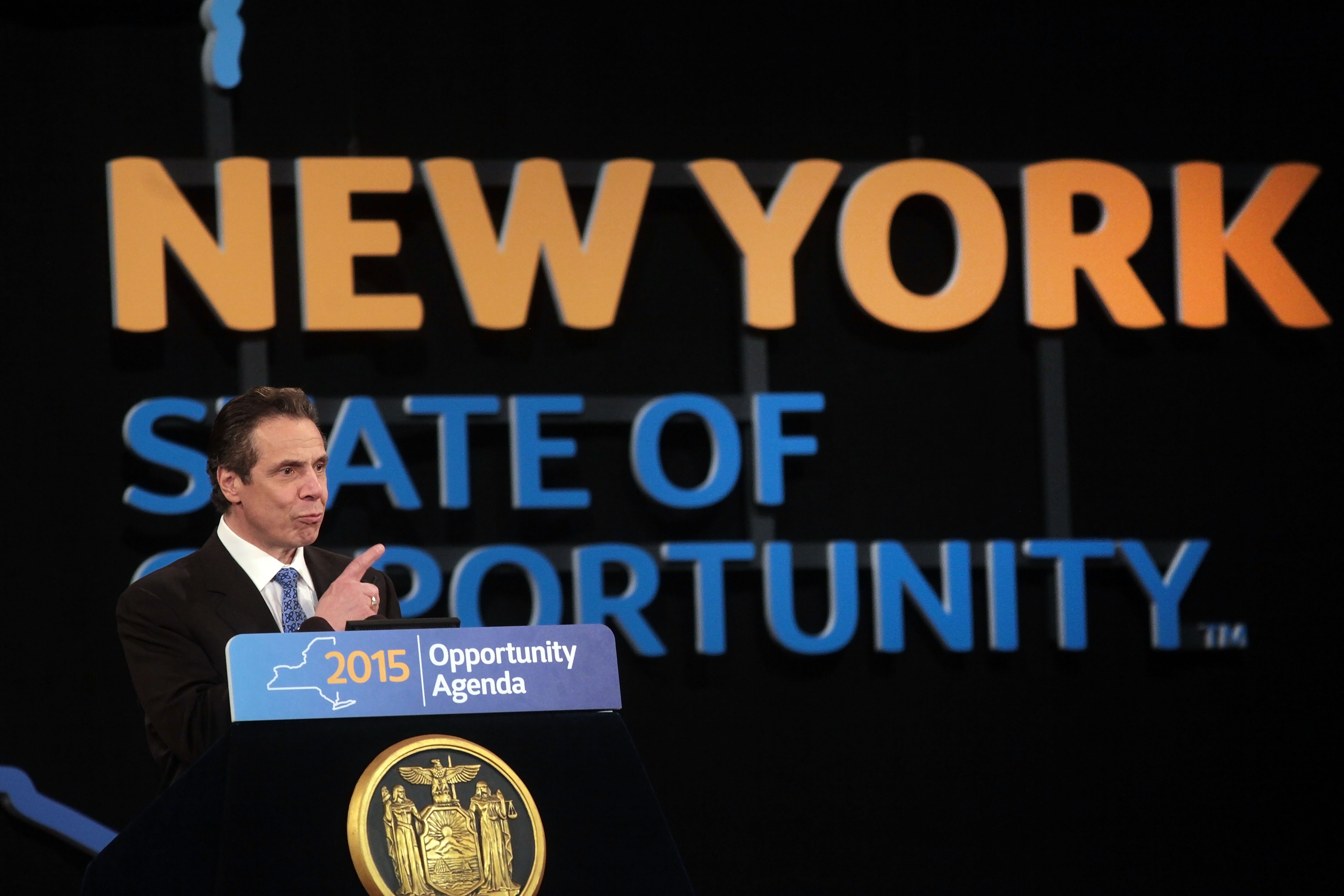 "Gov. Andrew M. Cuomo is proposing dramatic changes to education in New York, saying, ""We've been putting more money into the system every year for decades, and it hasn't changed."""
