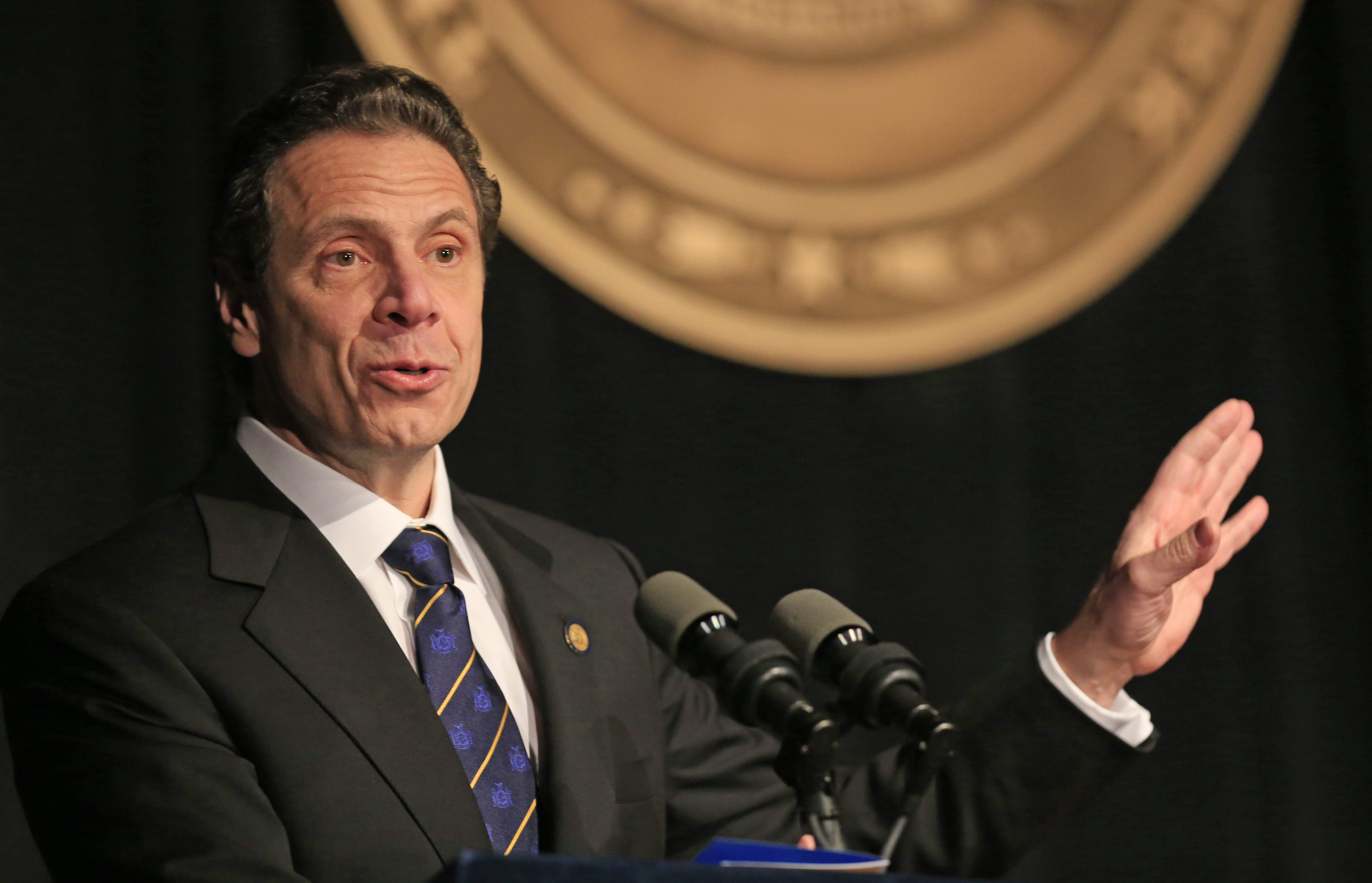 New York Gov. Andrew Cuomo delivered his state-of-the-state address Wednesday.  (Harry Scull Jr./Buffalo News file photo)