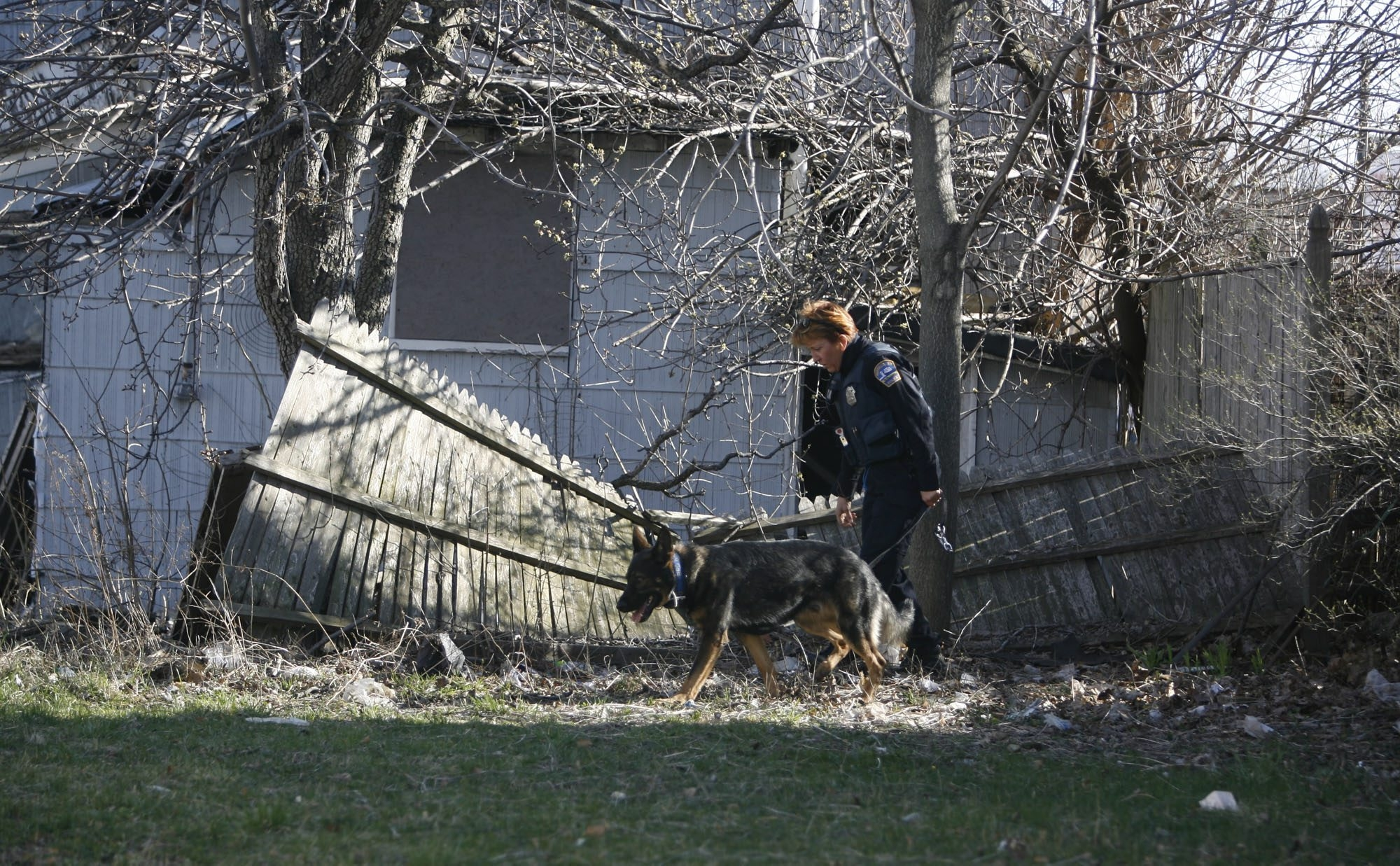 Buffalo Police K-9 Officer Mary Ellen Sawicki and her dog Herc, shown here on the job in 2009, carried out 4,365 searches for police.