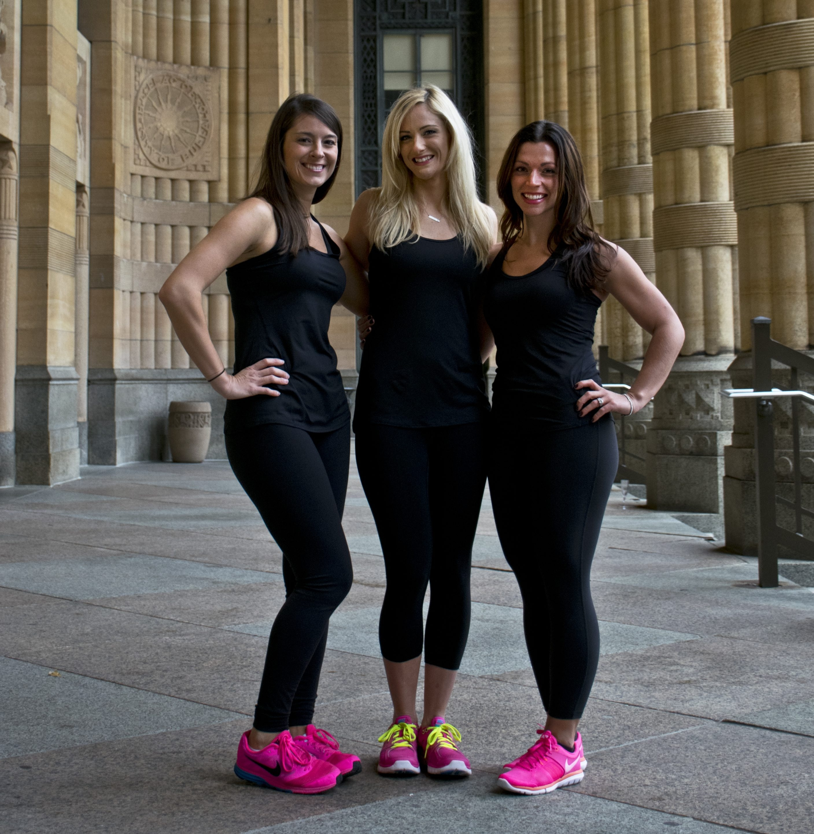 Revolution Indoor Cycling owners, from left, Colleen Kirk, Amanda Moses and Rachel McCrone.