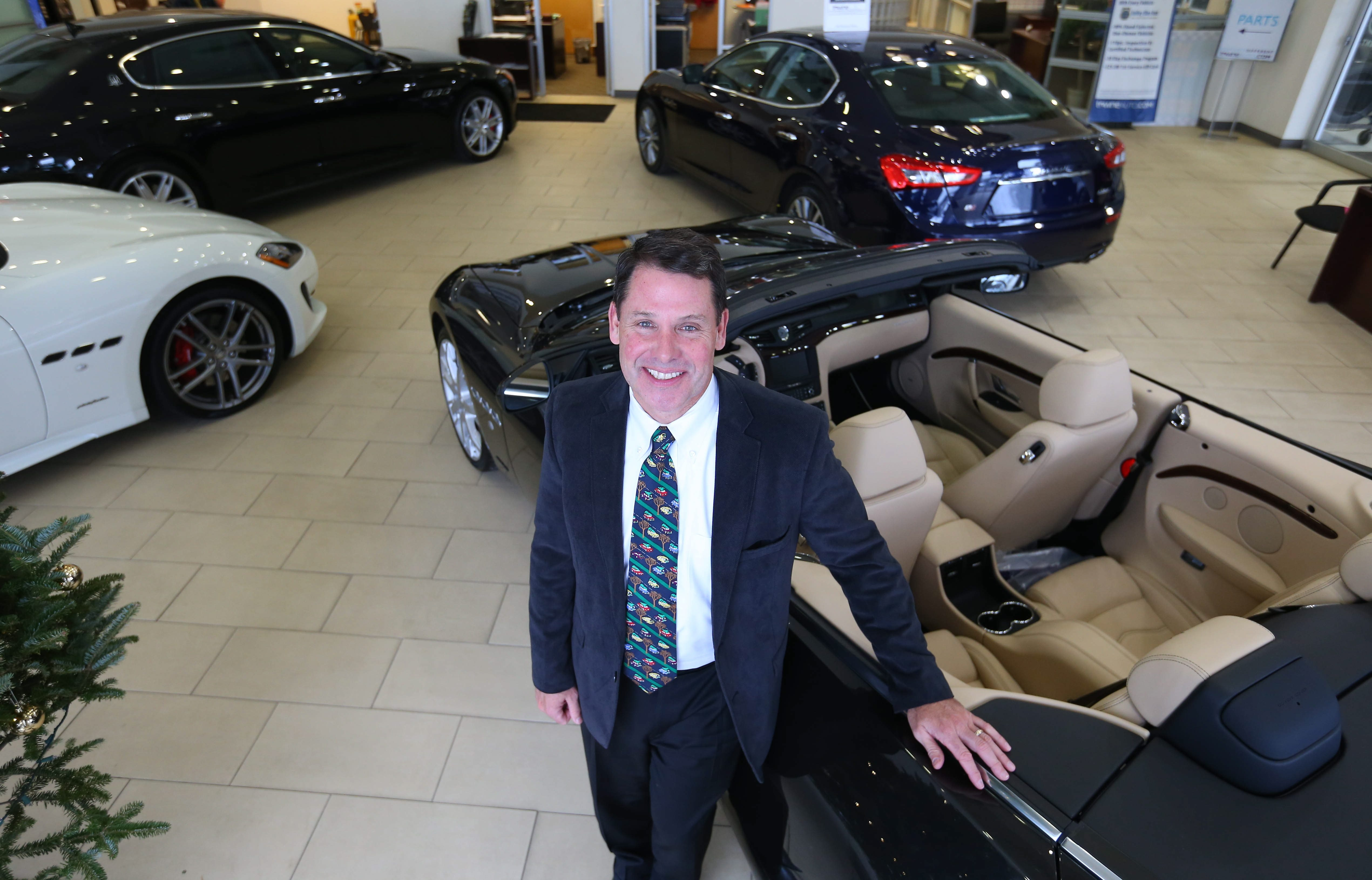 Towne Automotive Group President Frank Downing Jr. added Maserati to his lineup in Orchard Park.