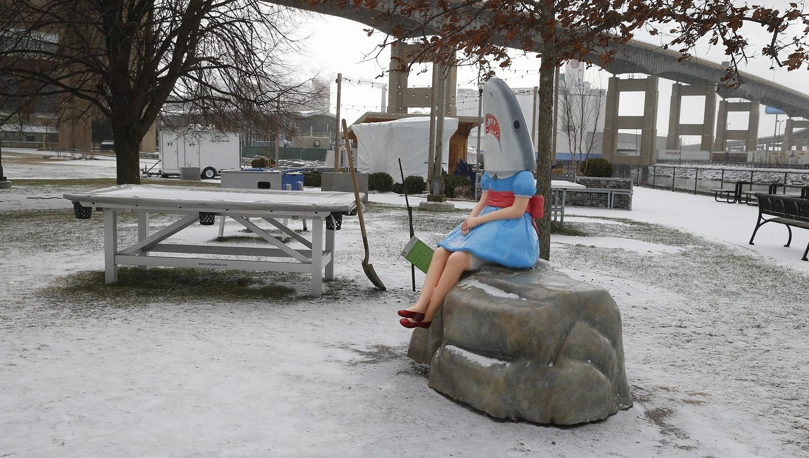 Obligatory Shark Girl shot. (John Hickey/Buffalo News file photo)