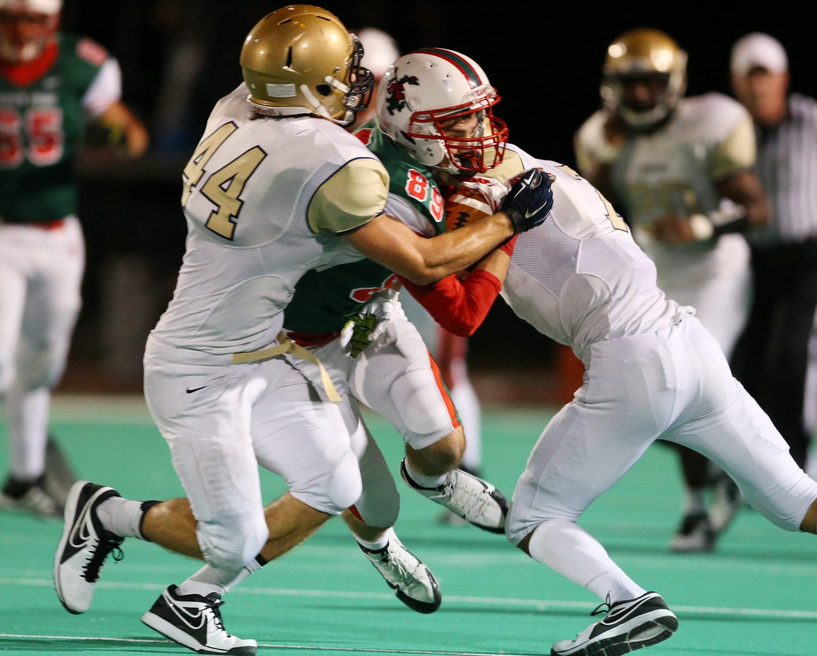 Brad Zaffram of Canisius makes one of his 91 tackles during the 2014 season.