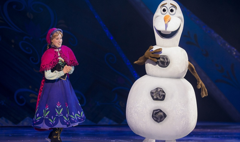 Anna (left) from 'Frozen' is one of the Disney princesses in 'Disney on Ice presents Princesses and Heroes' at the First Niagara Center.