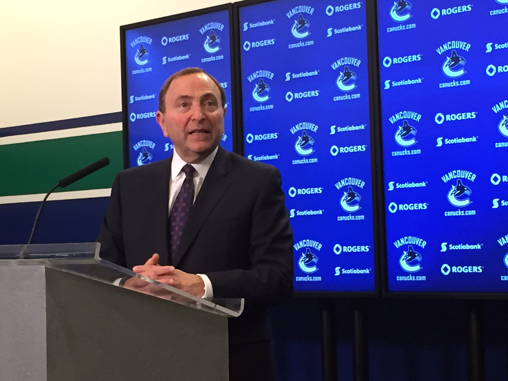 Gary Bettman said today in Vancouver he has no concerns about teams tanking for Connor McDavid (Mike Harrington/Buffalo News)