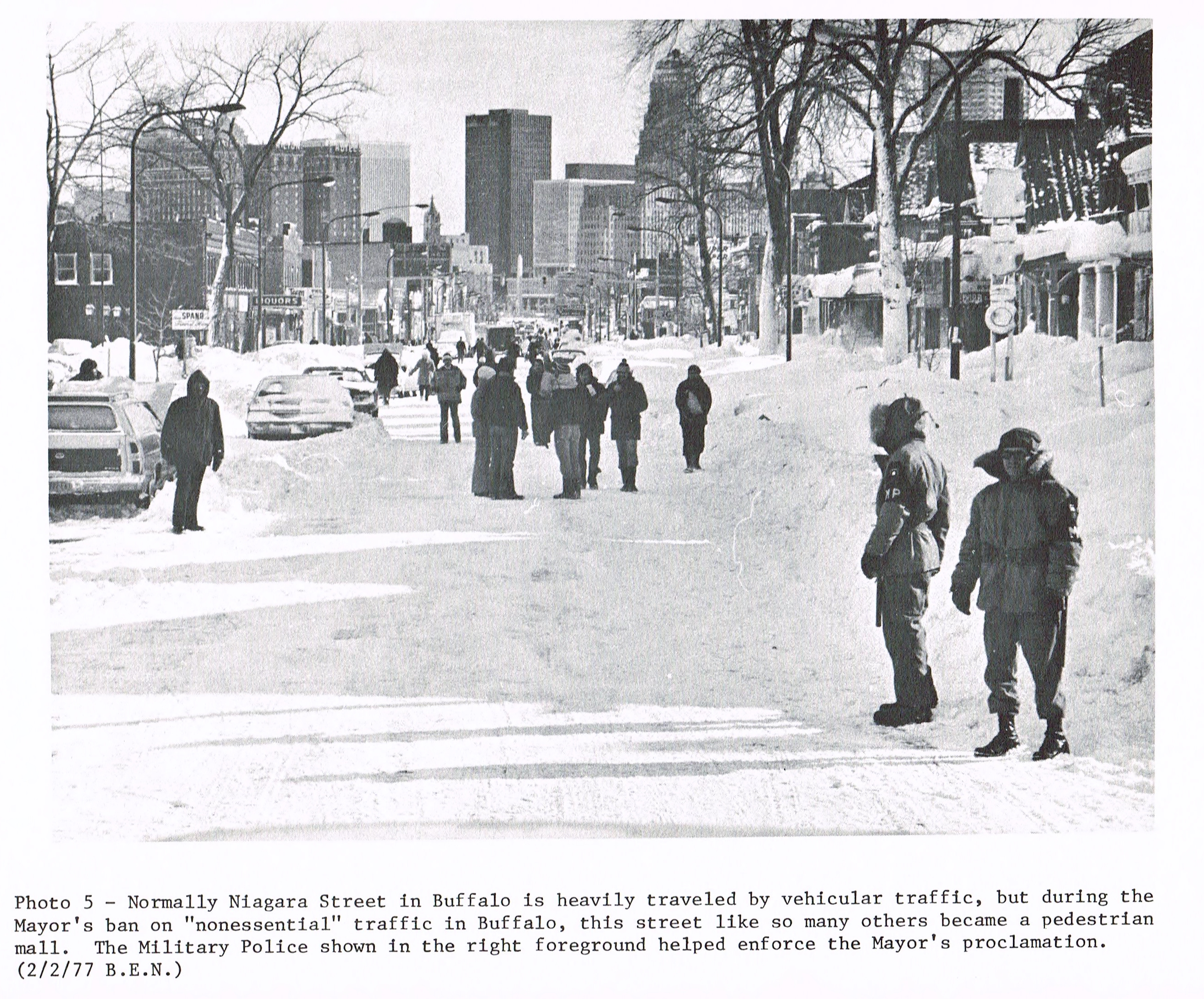 Niagara Street, Buffalo. Feb. 2, 1977, Buffalo Evening News.
