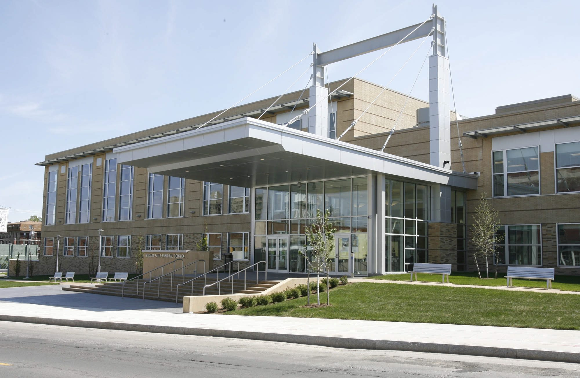 Niagara Falls Police headquarters at 1925 Main St. will soon be the home of a regional crime analysis center. (Harry Scull Jr./Buffalo News file photo)