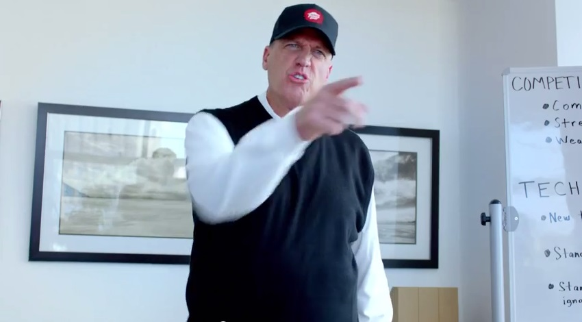 This screenshot is from Rex Ryan's new Pizza Hut commercial.