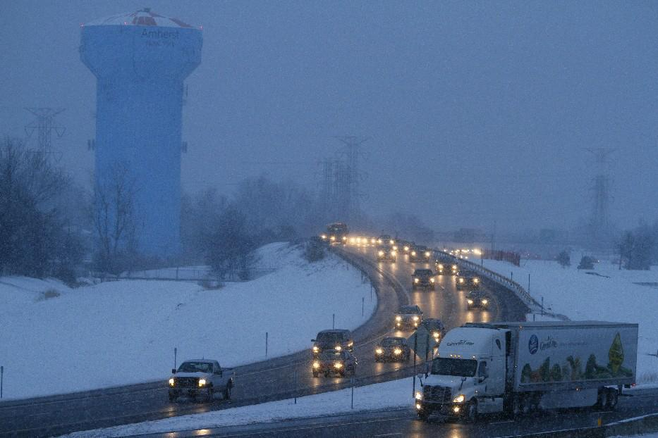 Prepare for snowy travel on area highways Super Bowl Sunday. [Buffalo News file photo]