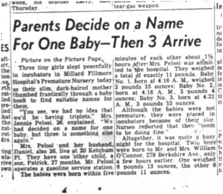 03 mar 1950 suprise triplets