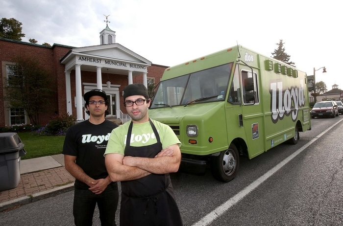 "Lloyd Taco Truck owners Peter Cimino, left, and Chris Dorsaneo were big winners on ""Restaurant Startup"" Tuesday. (Robert Kirkham/News file photo)"
