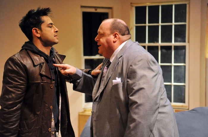 "Anthony Alcocer, left, and Greg Natale star in Second Generation Theatre's production of ""Orphans."""