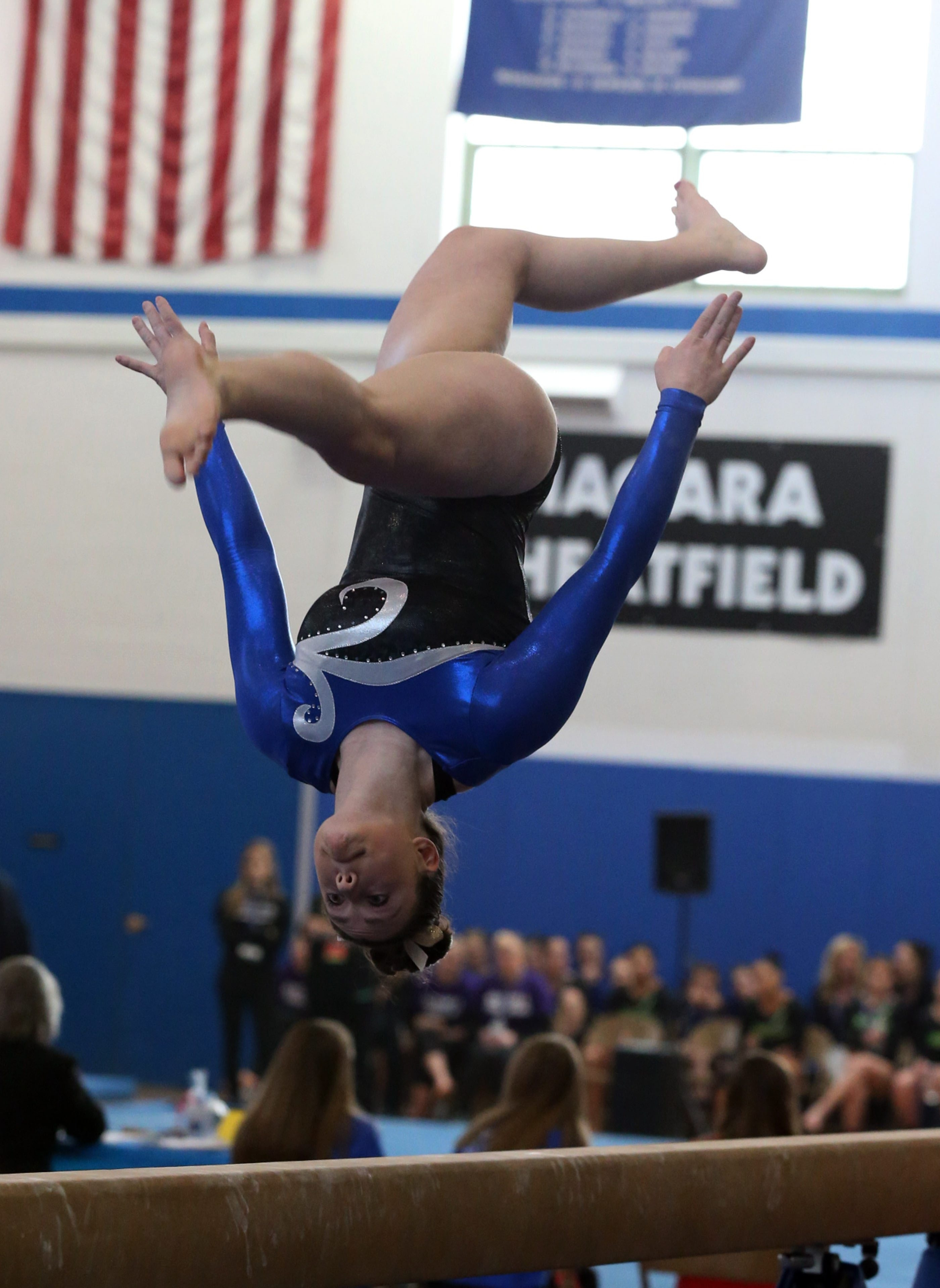 The best finish for Lancaster's Courtney Bondanza Saturday was a tie for second on the vault.