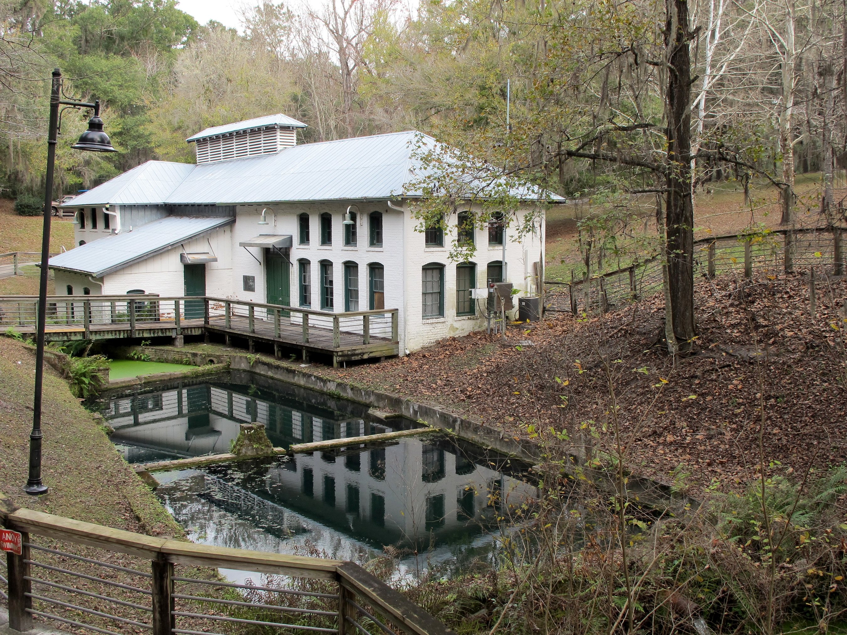 The Boulware Springs Waterworks building is one endpoint of the 16-mile Gainesville-Hawthorne Trail, which wends through Paynes Prairie. Illustrates TRAVEL-FLORIDA (category t), by Melanie D.G. Kaplan, special to The Washington Post. Moved Tuesday, Feb. 24, 2015. (MUST CREDIT: Jason Dearen.)