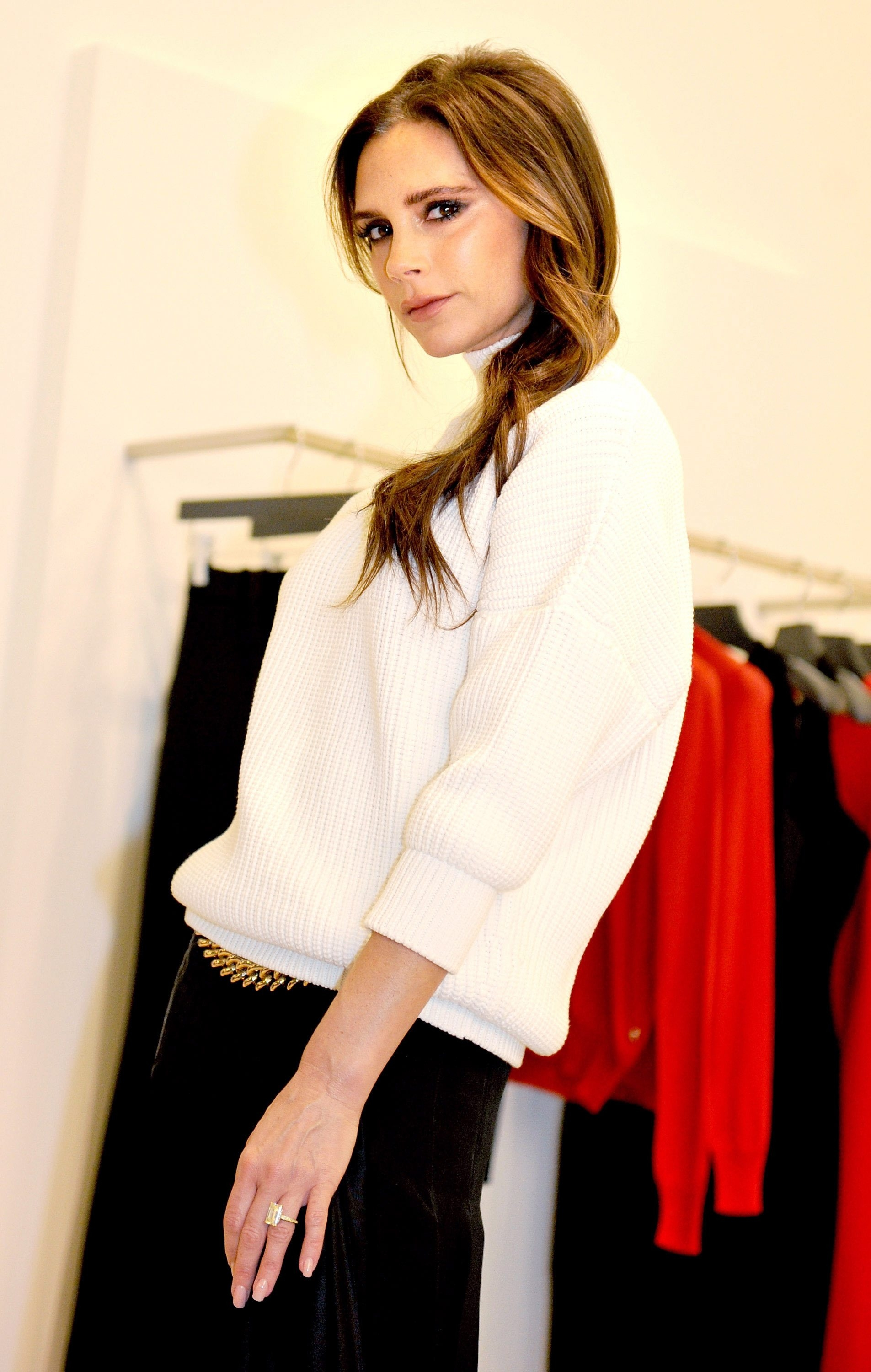 Victoria Beckham, photographed in England last November, presented her fall 2015 collection during the recent New York Fashion Week.