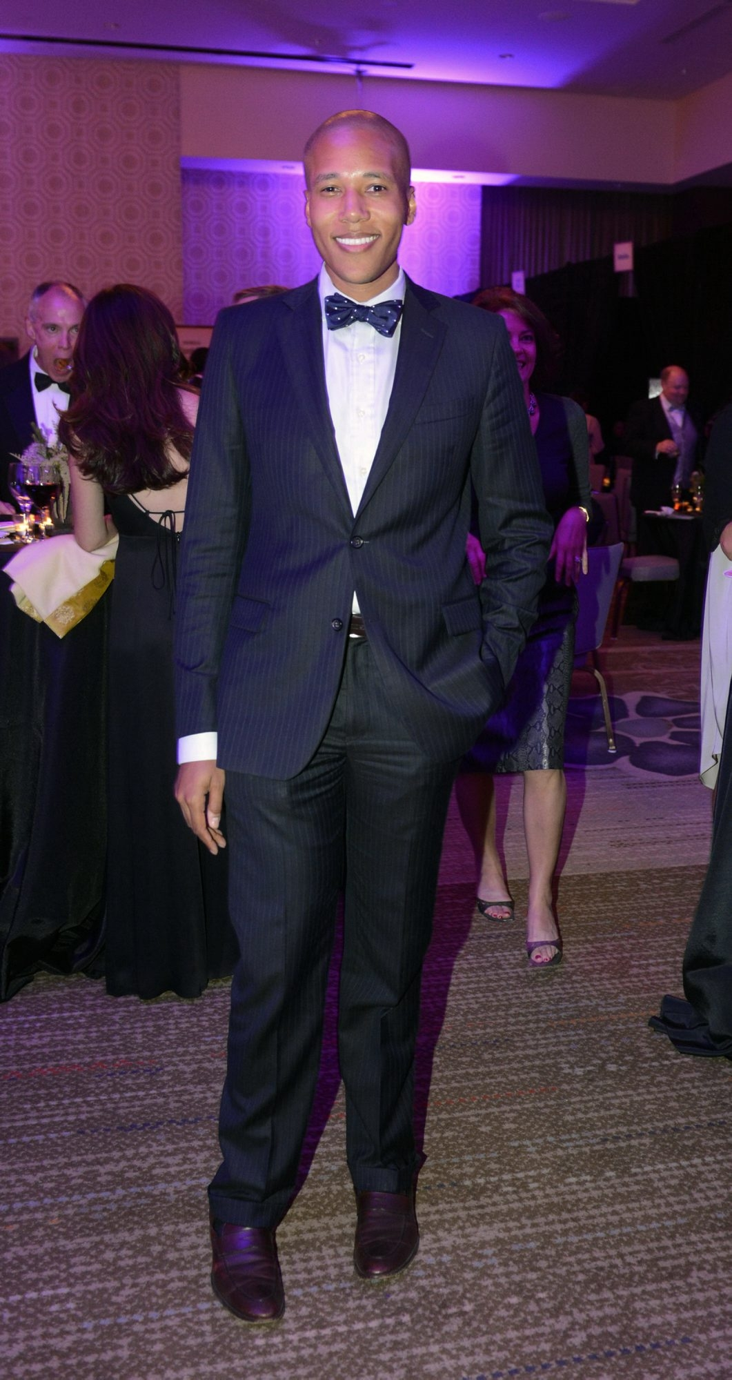 Navigating dress codes: At left is an example of Black Tie Optional. A dress and complementary accessories, above right, are well-suited to Cocktail Chic.
