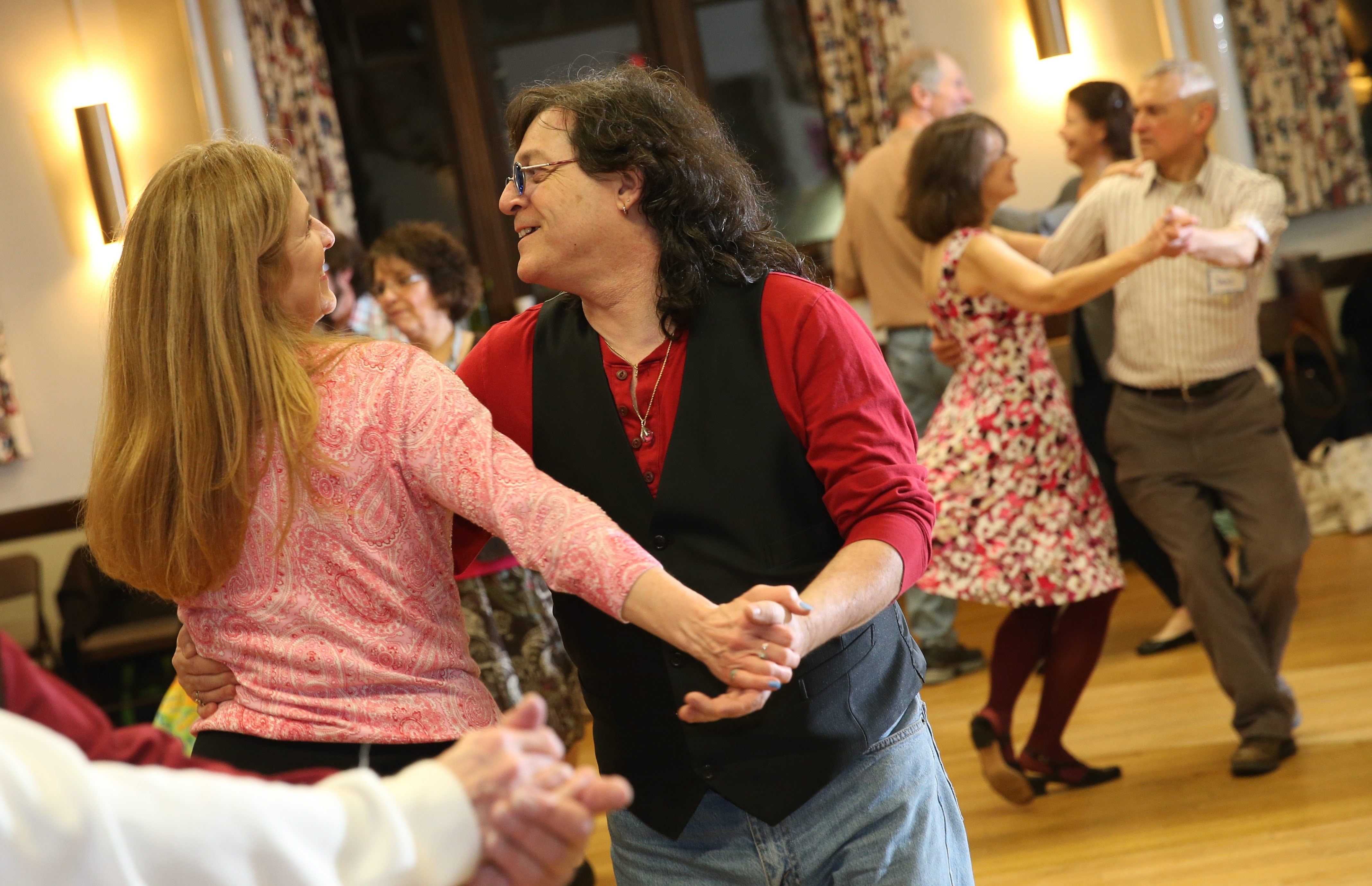 The Queen City Contra Dancers meet at Unitarian Universalist Church on Elmwood Avenue every first and third Saturday to enjoy the dancing style that's similar to square dancing.