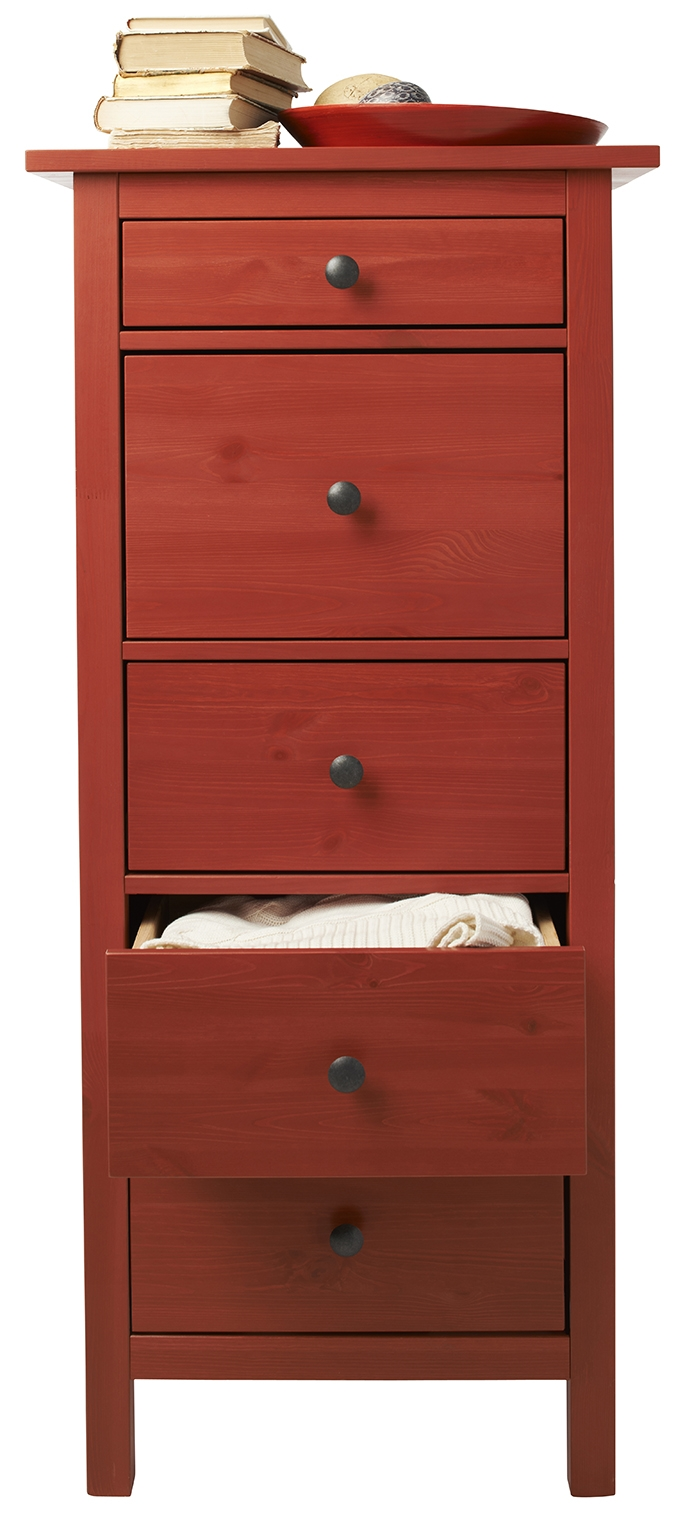 Interior designer Jessica Parker Wachtel recommends buying a simple piece, such as one of Ikea's five- or six-drawer Hemnes chests, to use instead of a traditional dresser. Illustrates DESIGN-DRESSERS (category l), by Megan Buerger, special to The Washington Post. Moved Thursday, February 12, 2015. (MUST CREDIT: Ikea.)