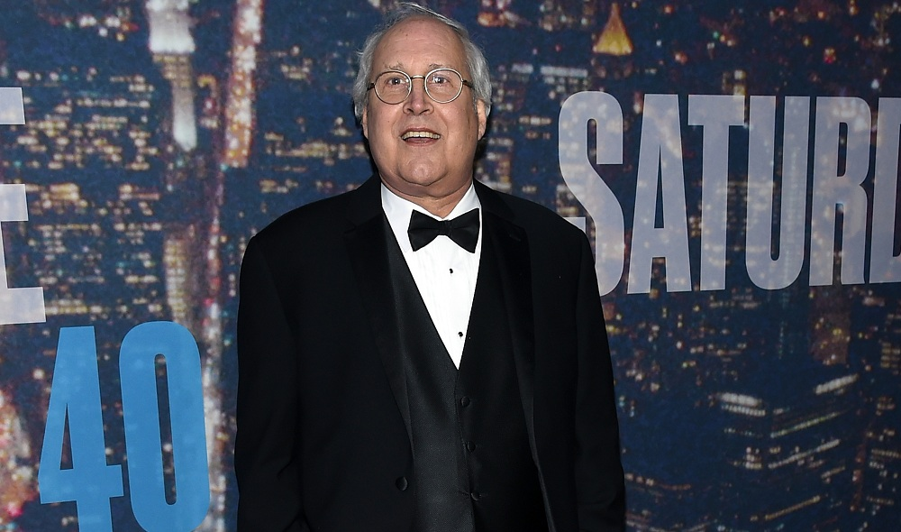 "Comedian Chevy Chase attends the ""Saturday Night Live"" 40th anniversary celebration at Rockefeller Plaza on Sunday in New York City. (Getty Images)"