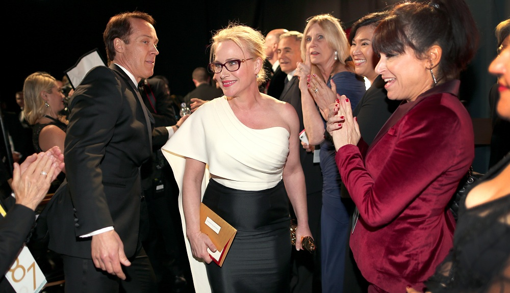 Patricia Arquette wins the Academy Award for Best Actress in a Supporting Role. (Getty Images)