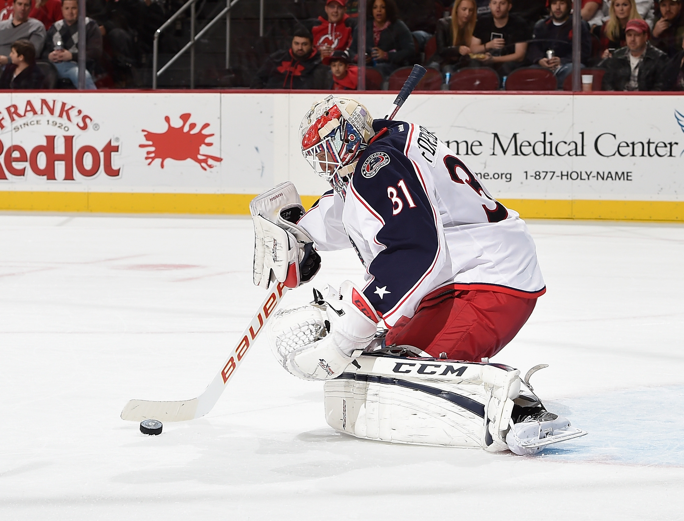 Anton Forsberg gets the call tonight against the Sabres (Getty Images).