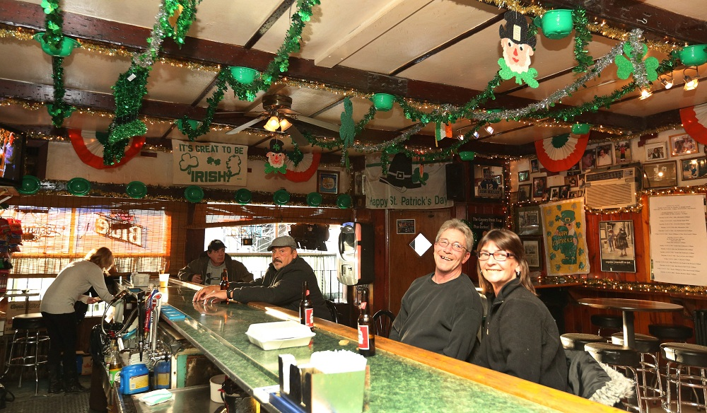 Talty's on South Park Avenue is all decked out for St. Patrick's Day. (Sharon Cantillon/Buffalo News)
