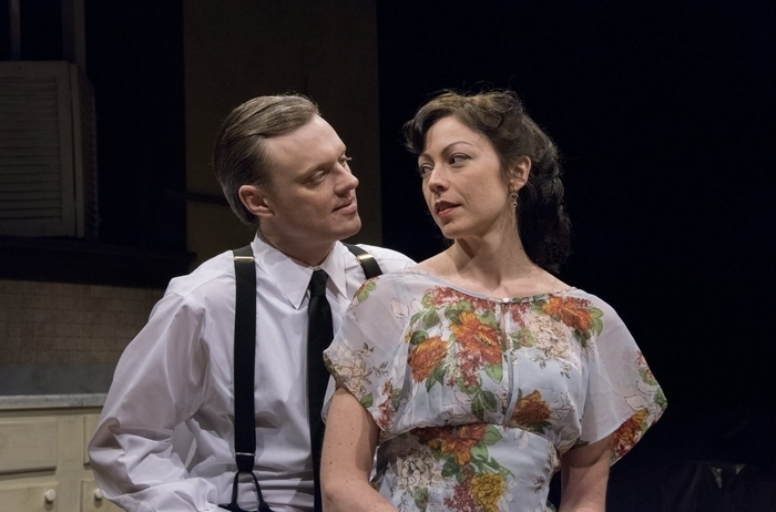 Christopher Evans and Kate LoConti star in the Irish Classical Theatre Company's production of 'After Miss Julie.'