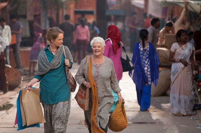 "Christy Meyer plays Jasmine and Judi Dench stars as Evelyn Greenslade in ""The Second Best Exotic Marigold Hotel."""
