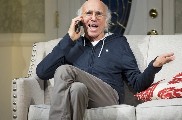 Making his Broadway debut as an actor and playwright, Larry David stars in þÄúFish in the Dark,þÄù at the Cort Theater in New York, March 1, 2015. þÄúFish,þÄù which follows a family gathering at a fatherþÄôs deathbed, has set a record for advance ticket sales for a play. (Sara Krulwich/The New York Times)