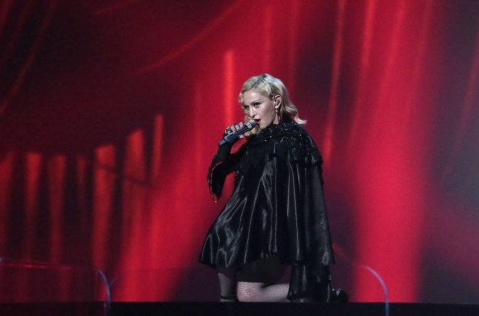 Madonna performs at the 57th Annual Grammy Awards at Staples Center in Los Angeles on Sunday, Feb. 8, 2015. (Robert Gauthier/Los Angeles Times/TNS)