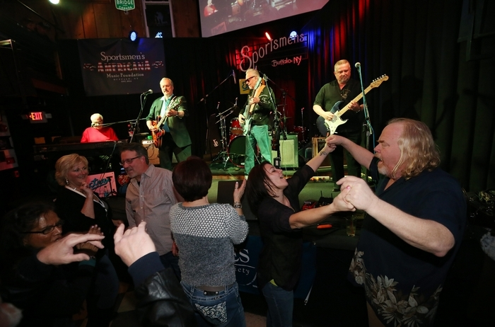 Blues lovers dance to the music of the  Electras in the Sportsmen's Tavern.