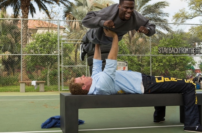 "Kevin Hart, top, and Will Ferrell join forces for the buddy comedy ""Get Hard."""
