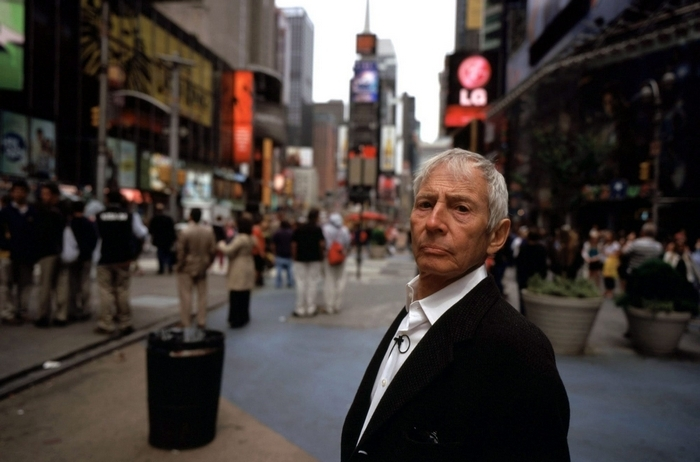 """Robert Durst, subject of HBO series """"The Jinx: The Life and Deaths of Robert Durst,"""" was arrested after microphone picked up an apparent confession muttered during a bathroom break. (HBO Films)"""
